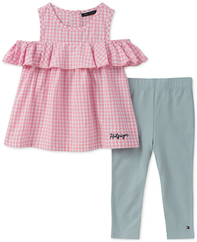 Tommy Hilfiger 2-Pc. Cotton Gingham Tunic & Leggings Set, Toddler Girls