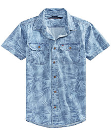 Tommy Hilfiger Mace Cotton Denim Shirt, Big Boys