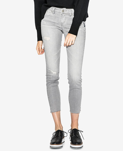 Silver Jeans Co. Aiko Ripped Ankle Skinny Jeans