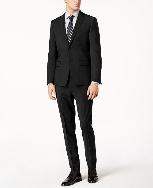 Mens Skinny Black Suit Bhlx