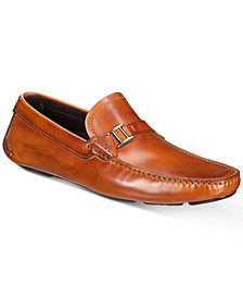 Massimo Emporio Men's Strap Bit Smooth Leather Drivers, Created for Macy's