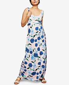 A Pea In The Pod Maternity Printed Maxi Dress