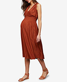RIPE Maternity Midi Sleeveless Dress