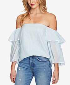 1.STATE Bell-Sleeve Off-The-Shoulder Top