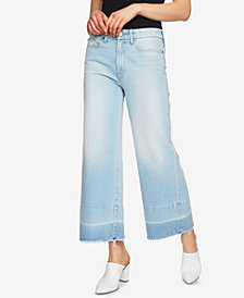 1.STATE Cotton Wide-Leg Ankle Jeans