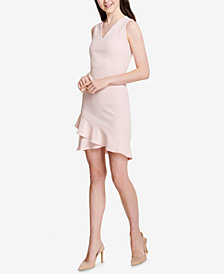 Calvin Klein Ruffled Fit & Flare Dress