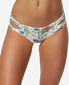 O'Neill Juniors' Juliette Printed Strappy Cheeky Bikini Bottoms