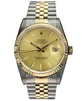 65a4d70f941 Pre-Owned Rolex Men s Swiss Automatic Datejust Jubilee 18K Gold   Stainless  Steel Bracelet Watch