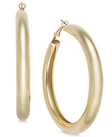 "Thalia Sodi Large 2"" Gold-Tone Wide Hoop Earrings, Created for Macy's"
