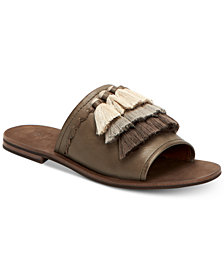 Frye Women's Riley Tassel Slide Sandals