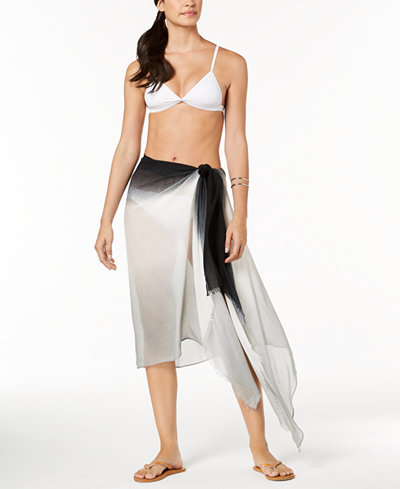 Calvin Klein Ombré Cover-Up & Scarf in One
