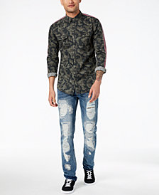 I.N.C. Men's Printed Shirt & Distressed Jeans Separates, Created for Macy's