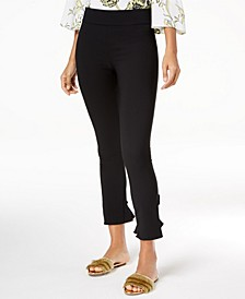 INC Curvy Ruffled-Hem Ankle Skinny Pants, Created for Macy's