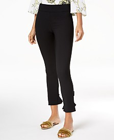 I.N.C. Petite Ruffled-Hem Skinny Ankle Pants, Created for Macy's