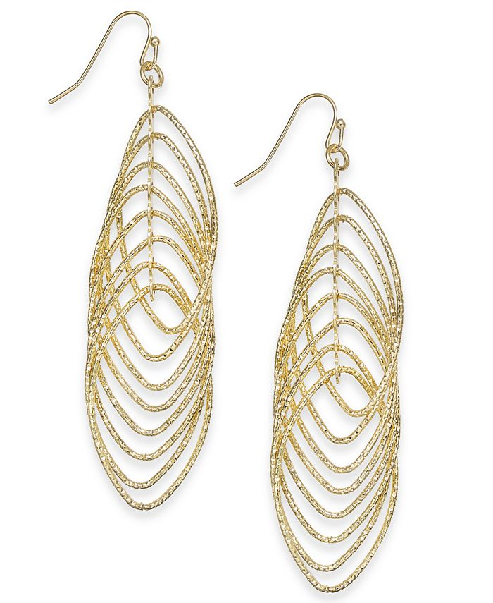 INC International Concepts - Navette Multi-Ring Drop Earrings