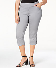 Lee Platinum Plus Size Cropped Pull-On Pants