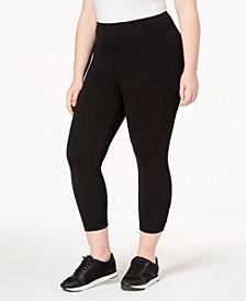 Calvin Klein Performance Printed High-Waist Lattice Cropped Leggings