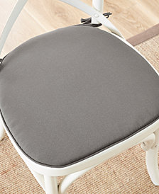Madison Park Pacifica Solid Weather-Resistant Indoor/Outdoor Chair Pad Pair with 3M Scotchgard