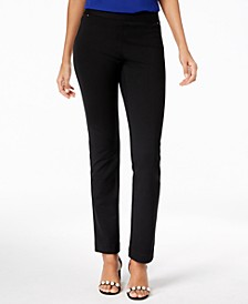 INC Petite Pull-On Straight-Leg Pants, Created for Macy's