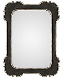 Bellano Aged Black-Framed Mirror