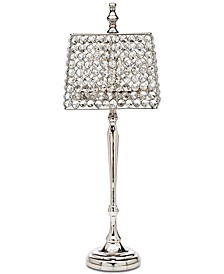 "Lighting by Design Rectangular Crystal 22"" Votive Lamp"
