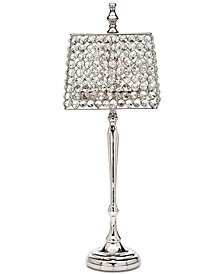 """Godinger Lighting by Design Rectangular Crystal 22"""" Votive Lamp"""