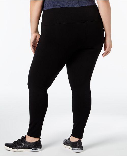 0fc3f9fae69 Calvin Klein Plus Size Leggings   Reviews - Pants   Capris - Plus ...