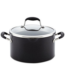 Anolon Advanced Onyx Hard-Anodized Non-Stick Straining 6-Qt. Stockpot & Lid