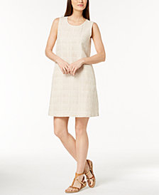 Eileen Fisher Organic Cotton Printed Dress, Regular & Petite