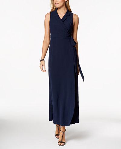 Adrianna Papell Wrap Maxi Dress
