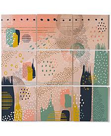 Deny Designs Marta Barragan Camarasa Abstract 9-Pc. Printed Wood Wall Mural