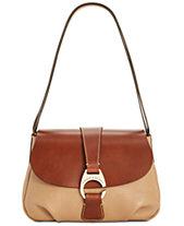 Dooney   Bourke Pebble Leather Flap Shoulder Bag be5c2ee501e9f