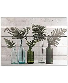 Botanical Bottles Print on Wood