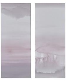 Harmony Blush Haze Canvas Print, Set of 2