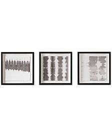 Monochrome Tie Dye Framed Print, Set of 3