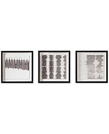 Graham & Brown Monochrome Tie Dye 3-Pc. Framed Print Set