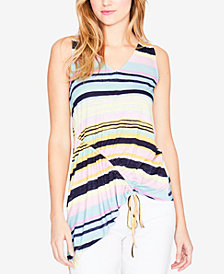 RACHEL Rachel Roy Striped Asymmetrical Top, Created for Macy's