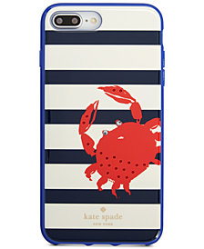 kate spade new york Jeweled Stripe Crab iPhone 8/8 Plus/X Case