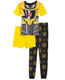 Transformers 3-Pc. Cotton Pajama Set, Little & Big Boys