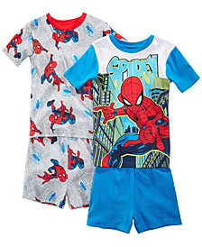 Marvel's® Spider-Man 4-Pc. Graphic-Print Cotton Pajama Set, Little & Big Boys