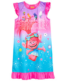DreamWorks Trolls Graphic-Print Nightgown, Little & Big Girls