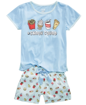 Max  Olivia 2Pc French Fries Pajama Set Little Girls  Big Girls
