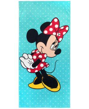 "Jay Franco Minnie Mouse Blue Vibes Cotton 28"" x 58"" Beach Towel Bedding 5796706"