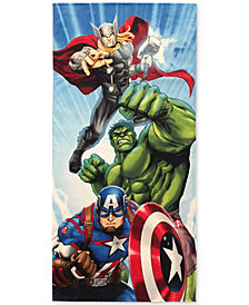 "Jay Franco Avengers Battle Ready Cotton 28"" x 58"" Beach Towel"