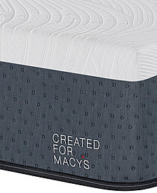 "MacyBed Lux Greenbriar 12"" Firm Memory Foam Mattress Set - Queen, Created for Macy's with Adjustable Base"