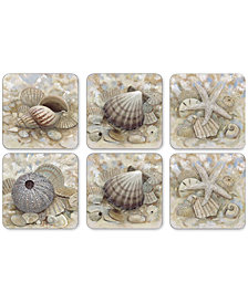 Pimpernel Beach Prize Coasters, Set of 6