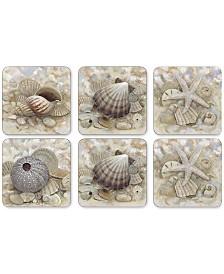 Pimpernel Beach Prize Coasters, Set of 6
