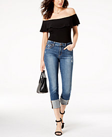 Joe's The Smith Crop Cuffed-Hem Jeans