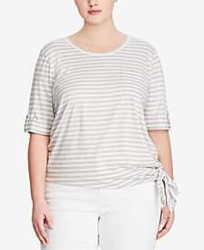 Lauren Ralph Lauren Plus Size Striped Jersey T-Shirt