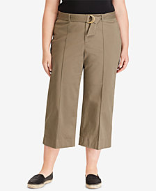 Lauren Ralph Lauren Plus Size Twill Trousers